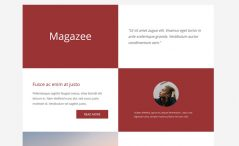 Magazee is a free bootstrap landing page website template
