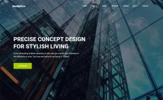 free bootstrap html 5 architecture website template