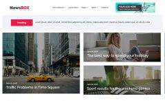 free Bootstrap news website template