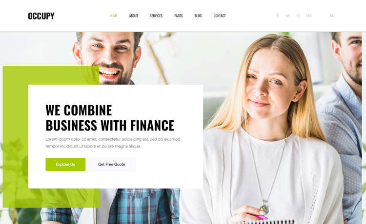 Occupy free bootstrap 4 html5 finance website template for free bootstrap 4 html5 finance website template fbccfo Image collections