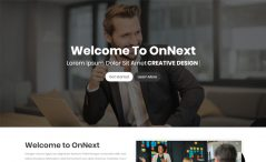 OnNext is a one Page Parallax Template
