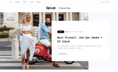 opium free Bootstrap personal blog website template