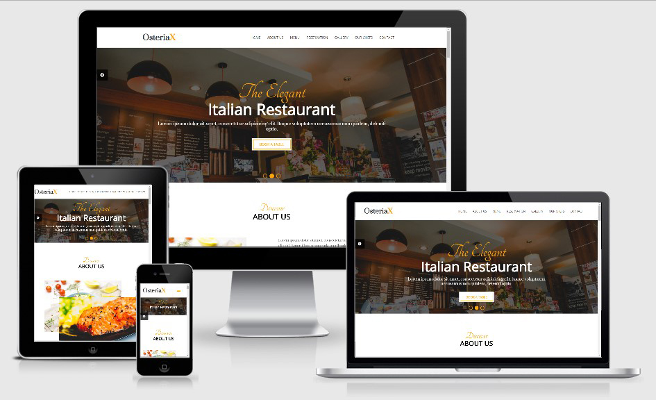 30+ responsive HTML5 Bootstrap based free restaurant template free