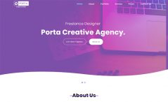 Porta is a free bootstrap minimal one page template