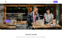 Pure is a free HTML 5 business or agency website template