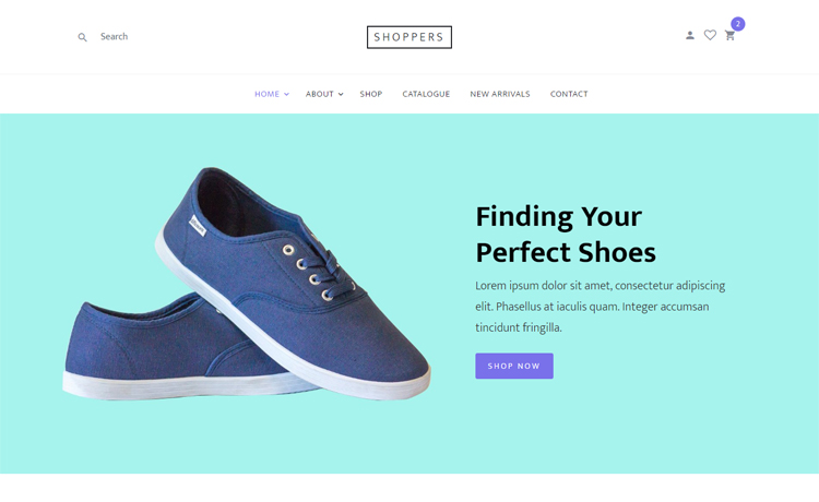 Shoppers is a free Bootstrap 4 based online shopping website template