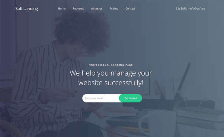one-page free Bootstrap HTML5 business agency website template