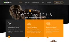 free Bootstrap fitness club website template