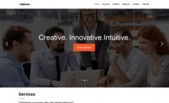 Free bootstrap creative business agency website template