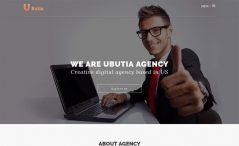 Ubutia is a free Bootstrap business agency website template