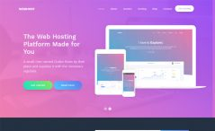 free bootstrap web hosting website template