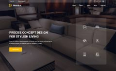 free bootstrap HTML interior designing agency website template