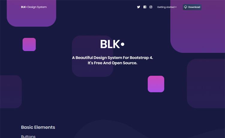 Blk-Free Bootstrap 4 design system