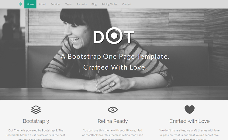 Free Bootstrap HTML5 one-page agency personal portfolio website template
