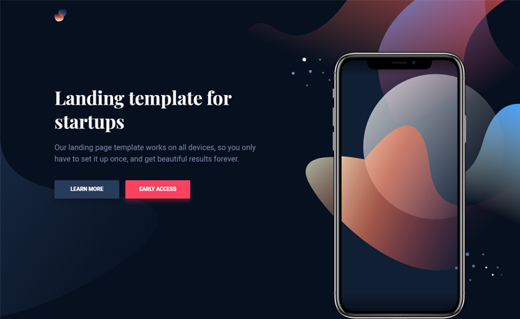 Free HTML5 app landing page template