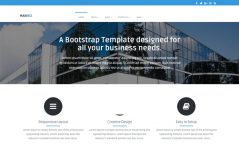 Free Bootstrap HTML5 multi-page business website template