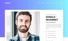 Free Bootstrap 4 Personal Portfolio Website Template