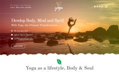 Free Bootstrap 4 HTML5 yoga website template
