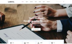 Free Bootstrap 4 HTML5 lawyer website template