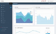 Free Bootstrap HTML5 admin dashboard template