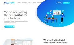 Free HTML5 business agency website template
