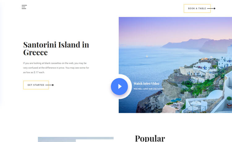 Free HTML5 Bootstrap 4 Travel Agency Website Template