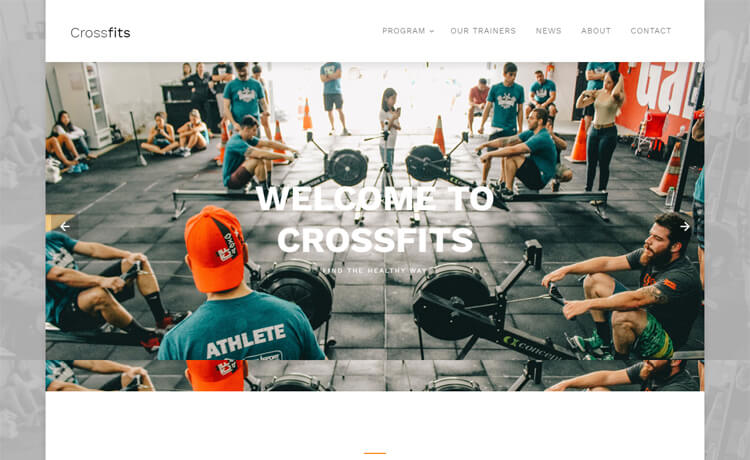 Free Bootstrap 4 HTML5 CrossFit website template