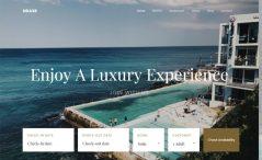 Free Bootstrap 4 HTML5 hotel resort website template