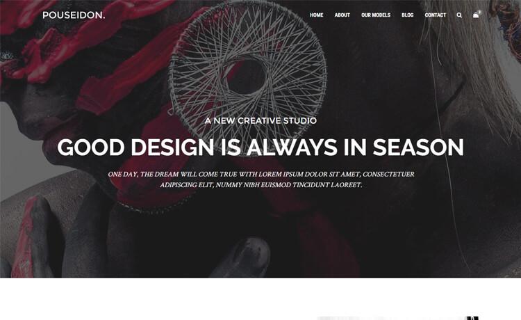 Free HTML5 advertising agency website template