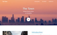 Free Bootstrap 4 business agency website template