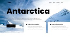 Free one-page Bootstrap 4 HTML5 travel agency website template
