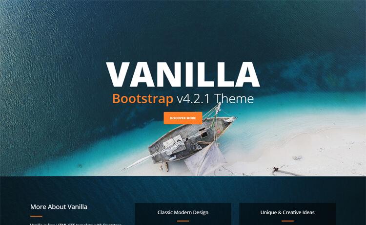 Vanilla-Free HTML5 CSS3 business template