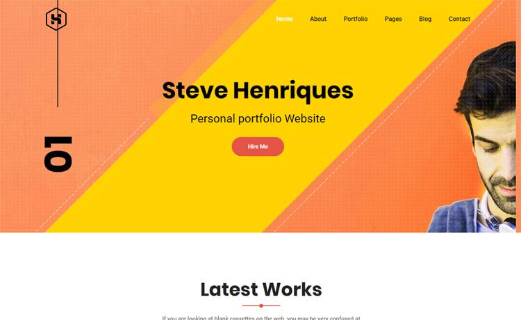 Free HTML5 portfolio website template