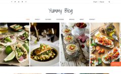 Free HTML5 food blog website template