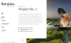 free HTML5 photo gallery website template