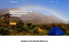 free travel and booking agency website template