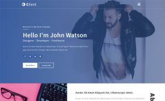 Free Bootstrap HTML5 Personal Portfolio Website Template