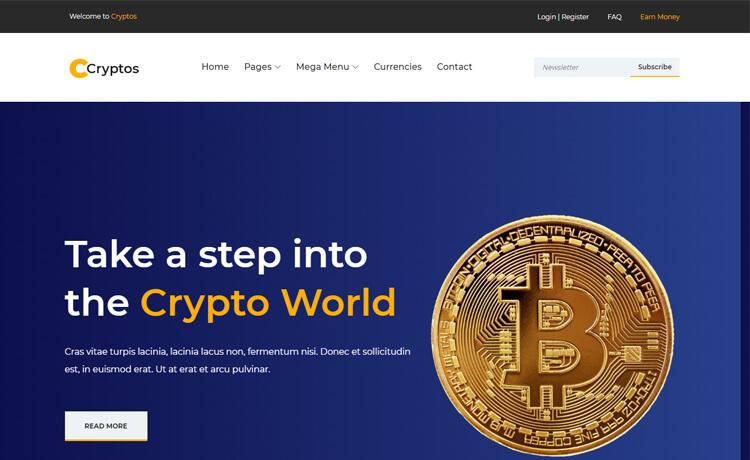 Cryptos-Free HTML5 Crypto Website Template