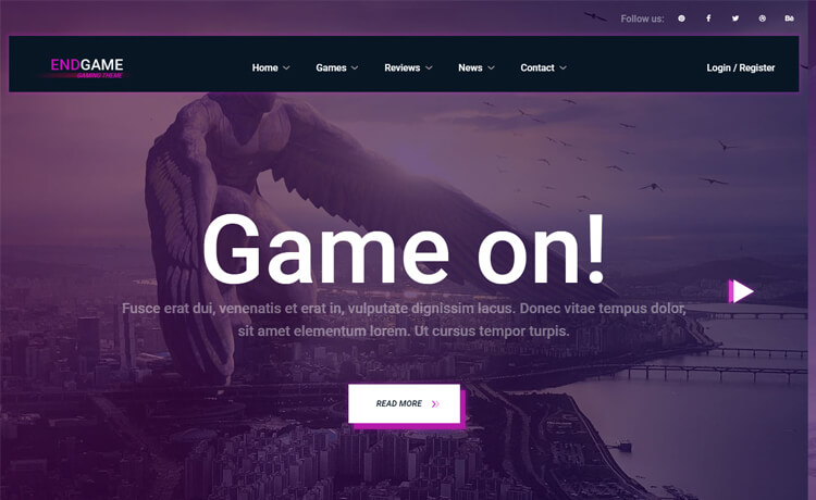 Free Bootstrap 4 HTML5 Gaming Website Template