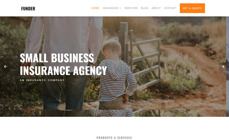 Free Bootstrap 4 HTML5 Insurance Website Template