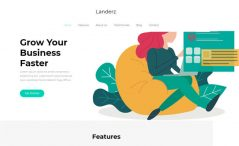 free business landing page website template