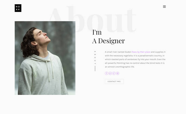 Free HTML5 Personal Landing Page Template