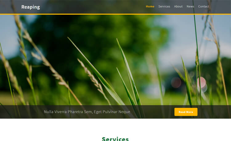 Free HTML5 Bootstrap 4 Agriculture Website Template