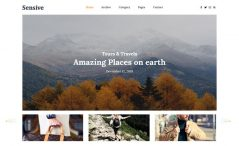 Free Bootstrap 4 HTML5 Travel Blog Website Template