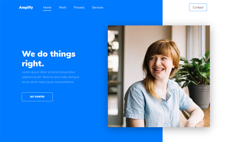 free HTML5 Bootstrap 4 agency website template