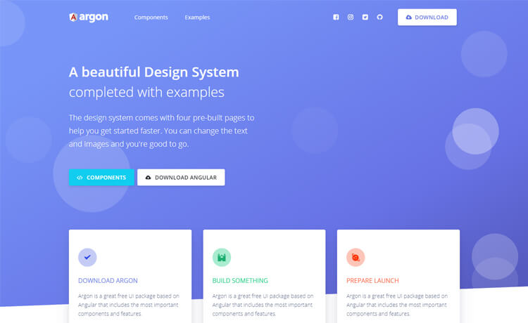 Free Bootstrap 4 Angular 7 Design System Template