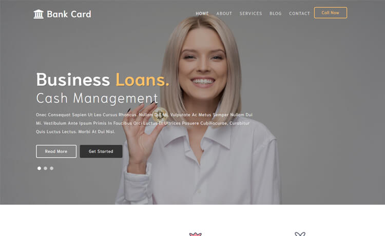 Free Bootstrap 4 HTML5 Banking Agency Website Template
