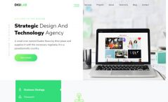 free HTML5 Bootstrap 4 one-page agency website template