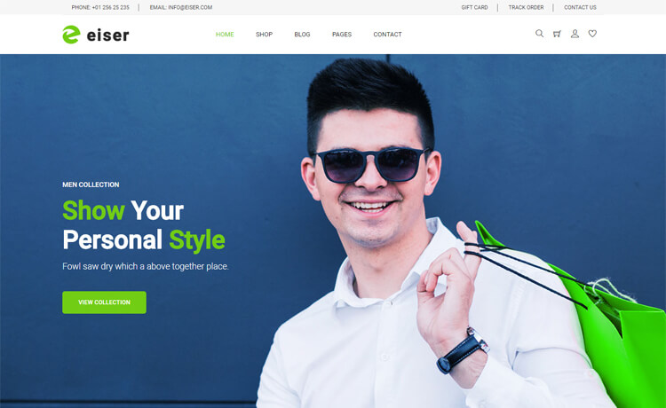 Free HTML5 Bootstrap 4 e-commerce Website Template