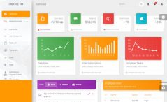 Free HTML5 Bootstrap 4 Admin Dashboard Template